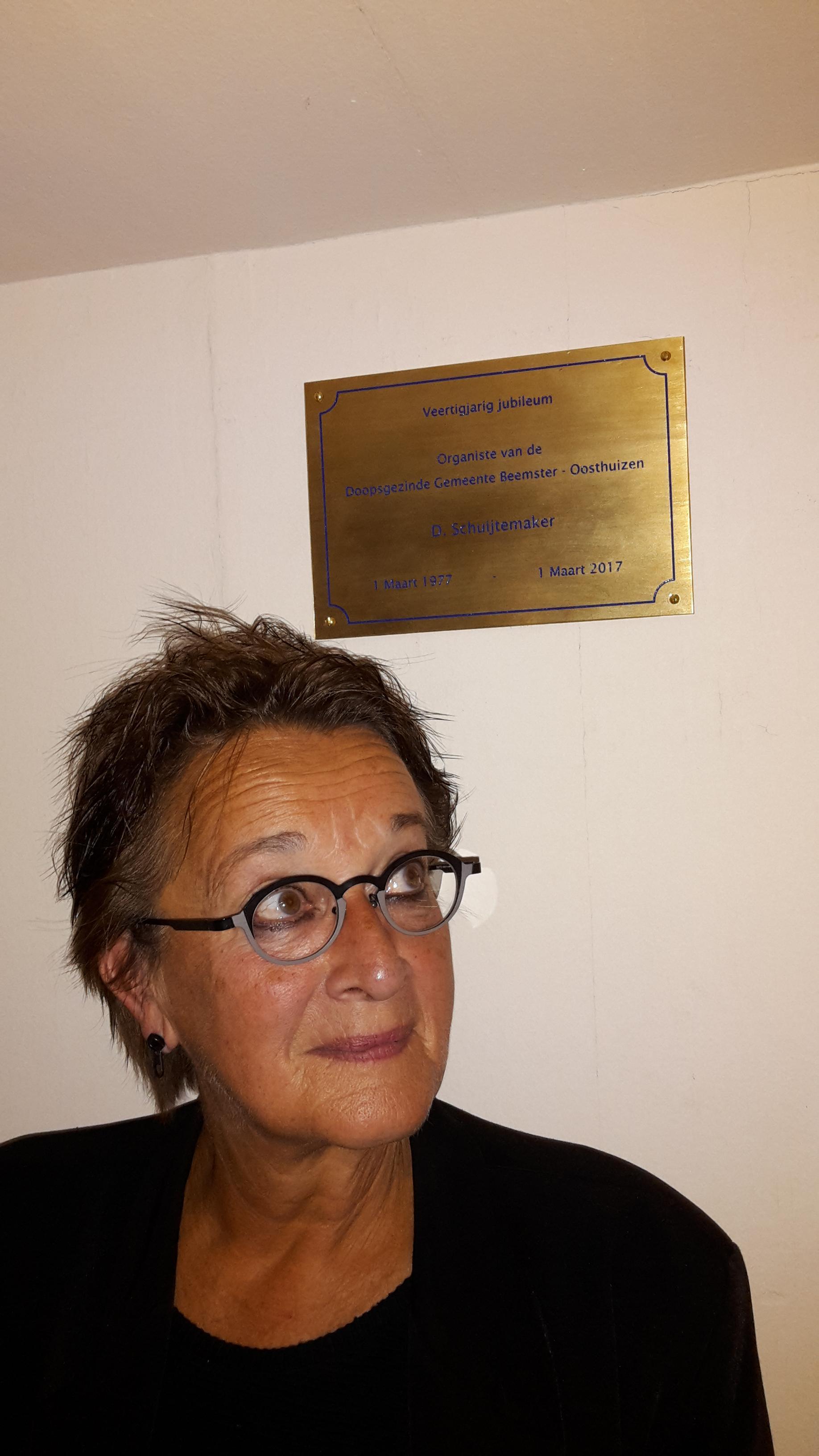 Dieuw Schuijtemaker 40 jaar onze organist