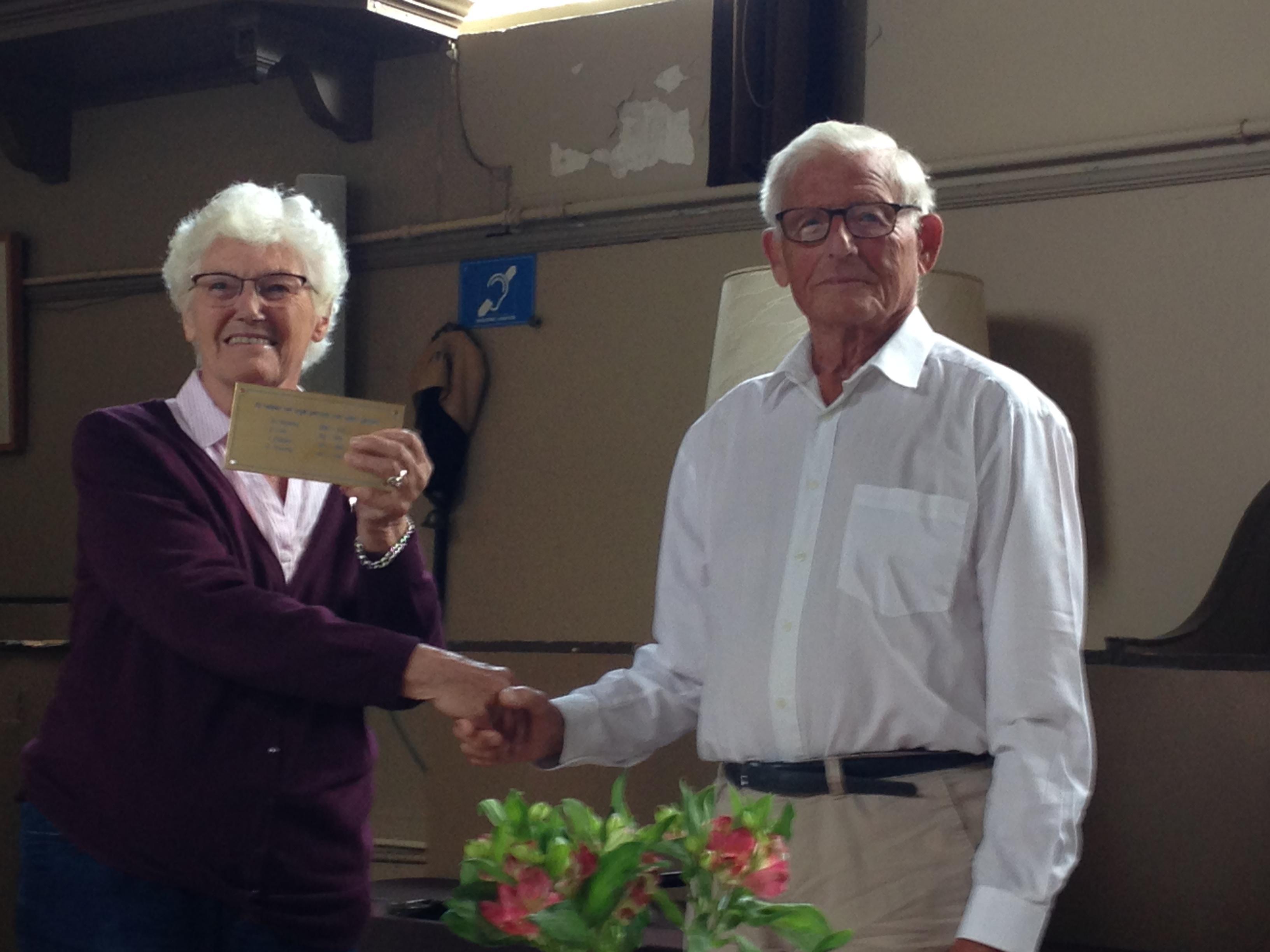 Dhr Finnema 25 jaar lang als orgelpomper